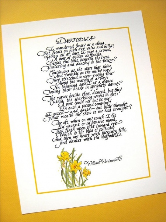 Outstanding Famous Poem About Daffodils Pics951