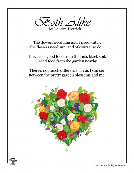 Outstanding Poems About Flowers For Kindergarten Pic908