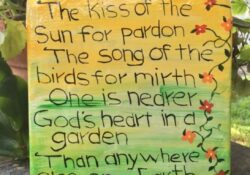 Outstanding The Walled Garden Poem Picture297