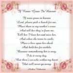 Popular Flowers From Heaven Poem Picture248
