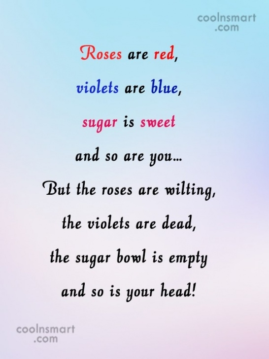 Popular Roses Are Red Violets Are Blue Kid Poems Pics520