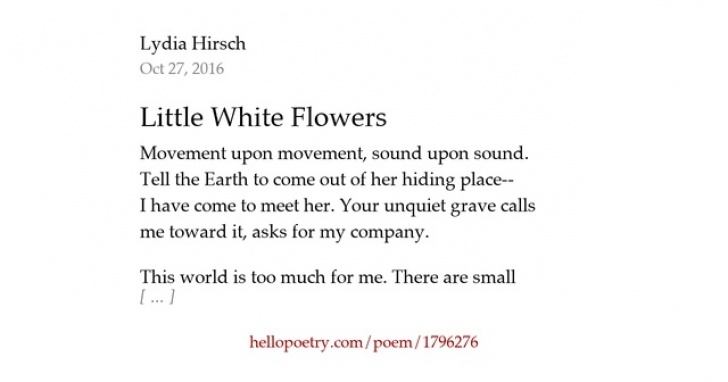 Popular Small Poem On Flowers Photo975