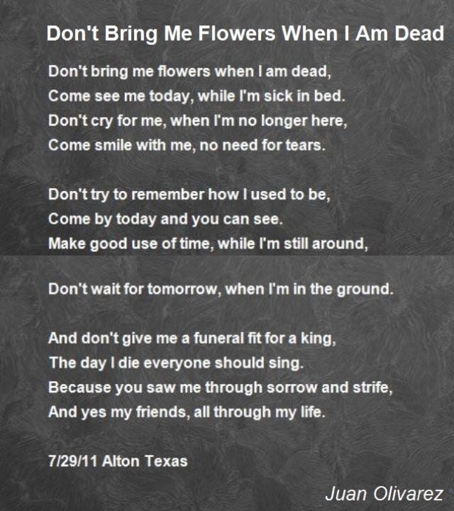 Popular The Poem I Got Flowers Today Pic222