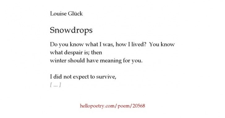 Popular To A Snowdrop Poem Pic669