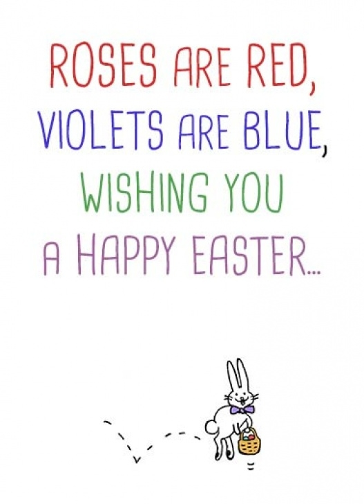 Roses Are Red Violets Are Blue Happy Birthday Poems inside Funny Easter Cards | Cardfool - Free Postage Included Image126