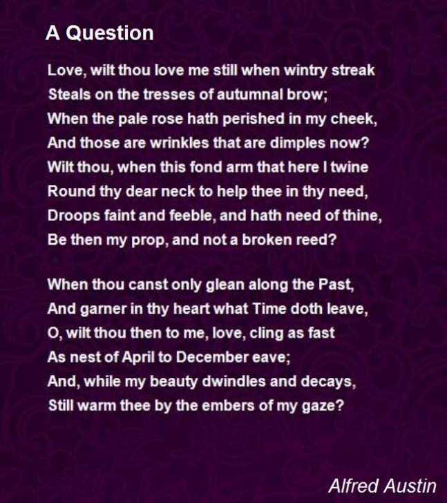 Roses In December Poem within A Question Poem By Alfred Austin - Poem Hunter Image940