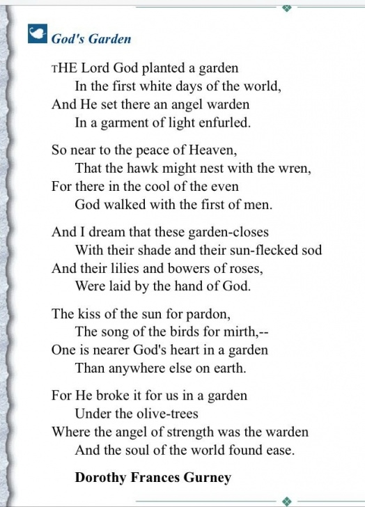 Stunning In God'S Garden Funeral Poem Pics163