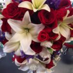 Stunning Roses Are Red Lilies Are White Photo699