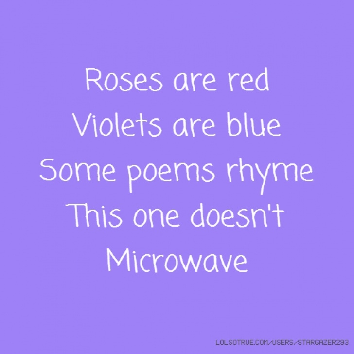 Stunning Violets Are Blue Roses Are Red Funny Poems Picture093