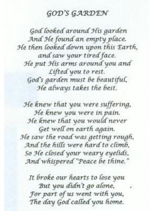 The Best God'S Garden Funeral Poem Pics994