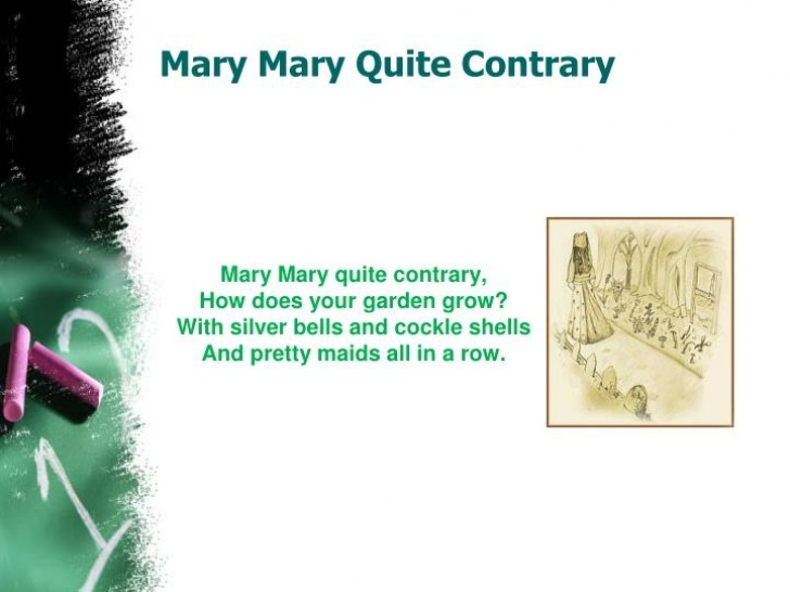 The Best Mary Mary Quite Contrary Full Poem Photo728