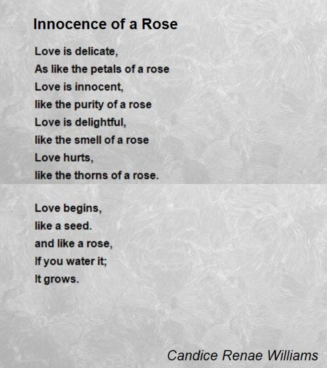 Top I Am A Rose Poem Photo807