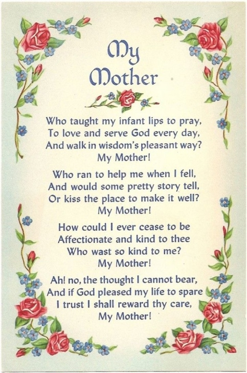 Top Mothers Day Poem About Flowers Image562